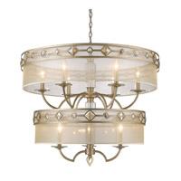 Golden Lighting 6390-9-WG Coronada 9 Light 33 inch White Gold Chandelier Ceiling Light 2 Tier