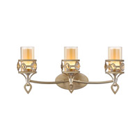 Golden Coronada 3 Light Bath Fixture in White Gold 6390-BA3-WG
