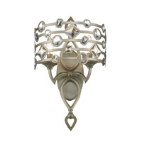 Golden Lighting Coronada 2 Light Wall Sconce in White Gold 6390-WSC-WG
