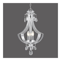 Golden Lighting Clarion 3 Light Pendant in Chrome with Metal Candle Sleeves 6530-3P-CH
