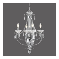 Golden Lighting Clarion 4 Light Chandelier in Chrome with Metal Candle Sleeves 6530-4-CH