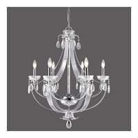 Golden Lighting Clarion 6 Light Chandelier in Chrome with Metal Candle Sleeves 6530-6-CH
