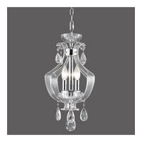 Golden Lighting Clarion 3 Light Convertible Semi-Flush in Chrome with Metal Candle Sleeves 6530-SF-CH