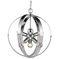 Golden Lighting 7001-6P-CH Carter 6 Light 19 inch Chrome Foyer Pendant Ceiling Light