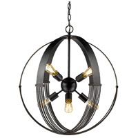 Carter 8 Light 24 inch Aged Bronze Foyer Pendant Ceiling Light