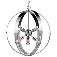 Golden Lighting 7001-8P-CH Carter 8 Light 24 inch Chrome Foyer Pendant Ceiling Light