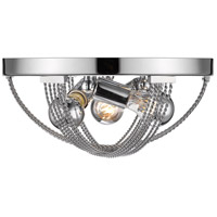 Carter 3 Light 14 inch Chrome Flush Mount Ceiling Light