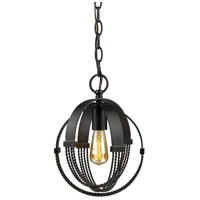 Golden Lighting 7001-M1L-ABZ Carter 1 Light 9 inch Aged Bronze Mini Pendant Ceiling Light