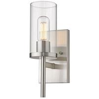 Golden Lighting 7011-1W-PW-CLR Winslett 1 Light 5 inch Pewter Sconce - Damp Wall Light