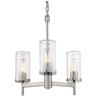 Golden Lighting 7011-3-PW-CLR Winslett 3 Light 20 inch Pewter Chandelier - Mini Ceiling Light
