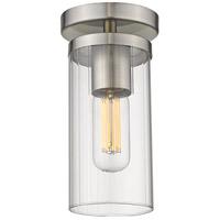 Golden Lighting 7011-SF PW-CLR Winslett 1 Light 5 inch Pewter Semi-Flush Ceiling Light Damp
