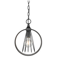 Golden Lighting 7035-M1L BLK Quinn 1 Light 10 inch Matte Black Mini Pendant Ceiling Light