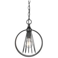Golden Lighting 7035-M1L-BLK Quinn 1 Light 10 inch Black Mini Pendant Ceiling Light