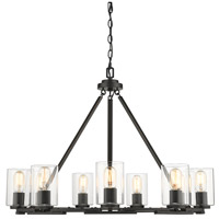 Monroe 9 Light 33 inch Smooth Black Chandelier Ceiling Light