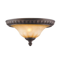 Mayfair 2 Light 15 inch Leather Crackle Flush Mount Ceiling Light
