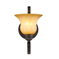Golden Lighting 7116-1W-LC Mayfair 1 Light 8 inch Leather Crackle Wall Sconce Wall Light