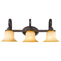 Golden Lighting 7116-BA3-LC Mayfair 3 Light 27 inch Leather Crackle Bath Fixture Wall Light