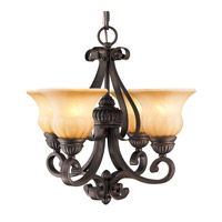 Golden Lighting 7116-GM4-LC Mayfair 4 Light 19 inch Leather Crackle Mini Chandelier Ceiling Light
