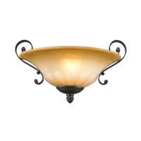 Golden Lighting 7116-WSC-LC Mayfair 1 Light 14 inch Leather Crackle Wall Sconce Wall Light alternative photo thumbnail