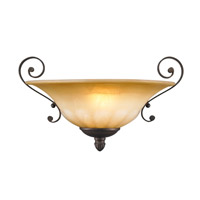 Golden Lighting 7116-WSC-LC Mayfair 1 Light 14 inch Leather Crackle Wall Sconce Wall Light
