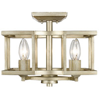 Golden Lighting 7151-SF-WG Bellare 4 Light 13 inch White Gold Semi-Flush Mount Ceiling Light, Convertible