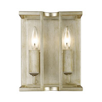 Golden Lighting Bellare 2 Light Wall Sconce in White Gold 7151-WSC-WG