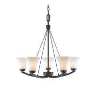 Golden Lighting Accurian 5 Light Chandelier in Rubbed Bronze 7158-5-RBZ-OP