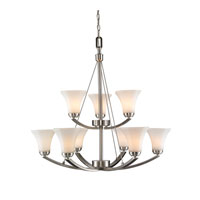 Golden Lighting Accurian 9 Light Chandelier in Pewter 7158-9-PW-OP