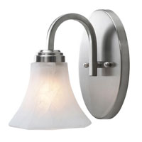 Golden Lighting Accurian 1 Light Wall Sconce in Pewter with Chiseled Marble Glass 7158-BA1-PW