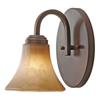 Golden Lighting Accurian 1 Light Wall Sconce in Rubbed Bronze with Chiseled Antique Marble Glass 7158-BA1-RBZ photo thumbnail