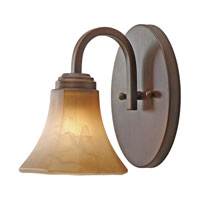 Golden Lighting Accurian 1 Light Wall Sconce in Rubbed Bronze with Chiseled Antique Marble Glass 7158-BA1-RBZ alternative photo thumbnail