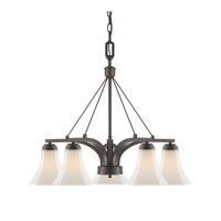 Golden Lighting Accurian 5 Light Chandelier in Rubbed Bronze 7158-D5-RBZ-OP
