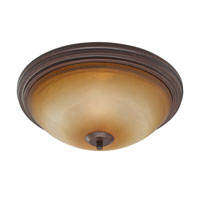 Golden Lighting Accurian 2 Light Flush Mount in Rubbed Bronze with Chiseled Antique Marble Glass 7158-FM-RBZ alternative photo thumbnail