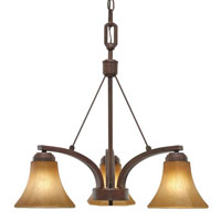 Golden Lighting Accurian 3 Light Chandelier in Rubbed Bronze with Chiseled Antique Marble Glass 7158-ND3-RBZ photo thumbnail