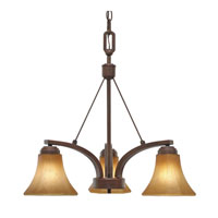 Golden Lighting Accurian 3 Light Chandelier in Rubbed Bronze with Chiseled Antique Marble Glass 7158-ND3-RBZ alternative photo thumbnail