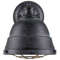Golden Lighting Bartlett 1 Light Wall Sconce in Black Patina 7312-1W-BP