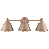 Bartlett 3 Light 24 inch Copper Patina Bath Vanity Wall Light