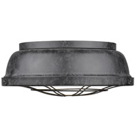 Golden Lighting Bartlett 2 Light Flush Mount in Black Patina 7312-FM-BP