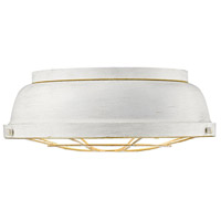 Golden Lighting 7312-FM-FW Bartlett 2 Light 14 inch French White Flush Mount Ceiling Light