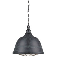 Golden Bartlett 1 Light Pendant in Black Patina 7312-L-BP