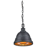Golden Bartlett 1 Light Mini Pendant in Black Patina 7312-S-BP
