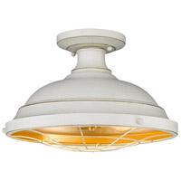 Golden Lighting 7312-SF FW Bartlett 2 Light 14 inch French White Semi-Flush Ceiling Light Damp