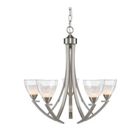 Golden Lighting Asteria 5 Light Chandelier in Pewter 7509-5-PW