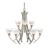 Golden Lighting Asteria 9 Light Chandelier in Pewter 7509-9-PW