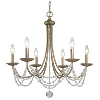 Golden Lighting Mirabella 6 Light Chandelier in Golden Aura with Metal Candlesticks 7644-6-GA