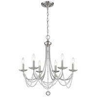 Mirabella 6 Light 25 inch Pewter Chandelier Ceiling Light