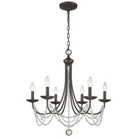 Mirabella 6 Light 25 inch Rubbed Bronze Chandelier Ceiling Light