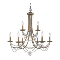Golden Lighting Mirabella 9 Light Chandelier in Golden Aura with Metal Candlesticks 7644-9-GA