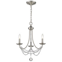 Golden Lighting 7644-M3-PW Mirabella 3 Light 18 inch Pewter Chandelier - Mini Ceiling Light