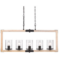 Eastwood 5 Light 40 inch Rustic Bronze Linear Pendant Ceiling Light